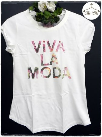 T-shirt  Viva La Moda - Off White