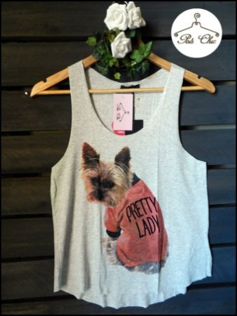 Regata Yorkie { Yorkshire } Pretty Lady – Cinza Mescla