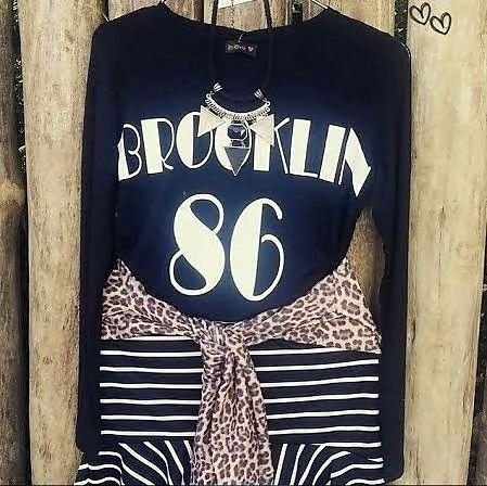 T-shirt Brooklin 86  { Preta }