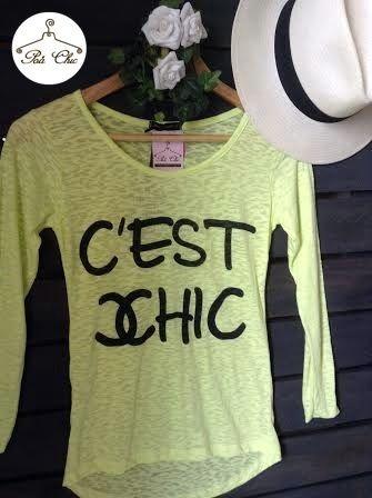 T-shirt C'est Chic  [ Amarela ]