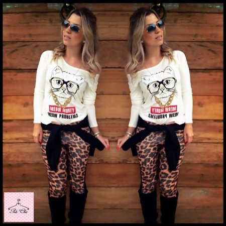Legging Neoprene || Animal Print { Petit Rosè }