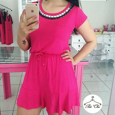 Vestido Bordado Rosa [[ Pink ]]