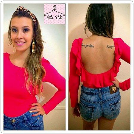 Body Pink || Babado nas Costas