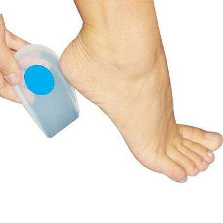 Calcanheira Ortopédica Silicone Para Esporão Com Ponto Azul