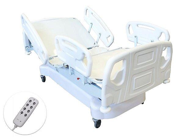 Cama Hospitalar Motorizada 5 Movimentos e 9 Posições Super Luxo