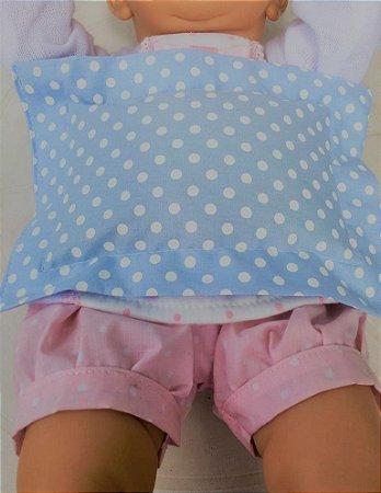 Bolsa térmica de Sementes para Bebê Poá Azul