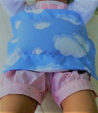 Bolsa Térmica de Sementes para Bebê Nuvenzinhas Azul