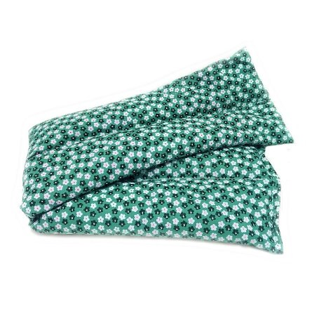 Bolsa Térmica de Sementes Floral Verde - Calor Úmido - Frio 36 x 11Cm