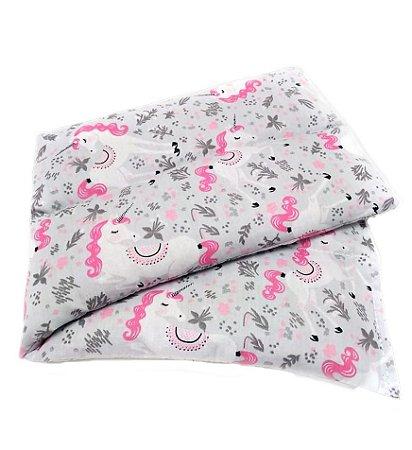 Bolsa Térmica de Sementes Unicórnio Rosa - Calor Úmido - Frio 38 x 12 Cm