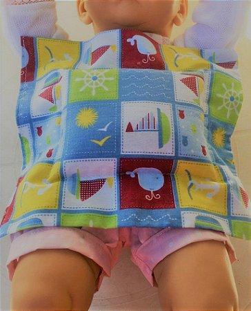 Bolsa Térmica de Sementes para Bebê Barquinhos