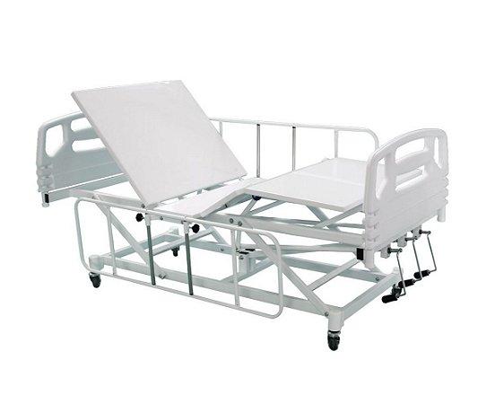 Cama Hospitalar Manual 3 Movimentos com Elevação do Leito Semi Luxo