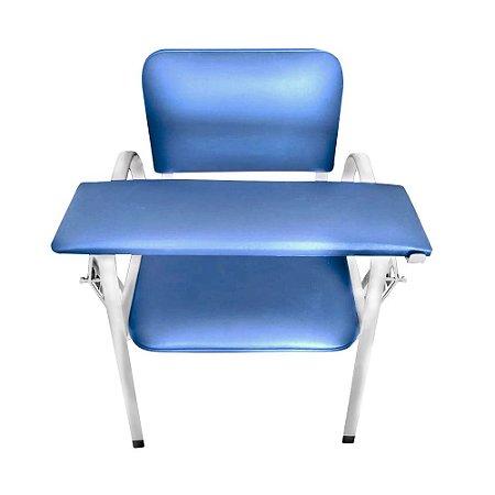 Cadeira para Coleta com Apoio de Braço Estofado