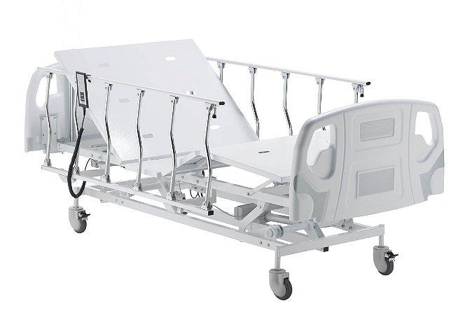 Cama Hospitalar Motorizada 3 Movimentos com Elevação do Leito Evidence e Grades Basculante