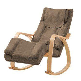 Cadeira Massageadora Shiatsu Lounge com Pés de Madeira
