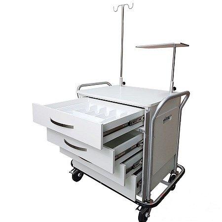Carro de Emergência para sala de Exames de Ressonância Magnética