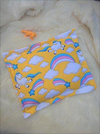 Bolsa Térmica de Sementes Bebê Unicórnio Arco Iris