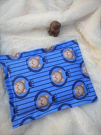 Bolsa Térmica de Sementes Bebê Ursinhos Azuis