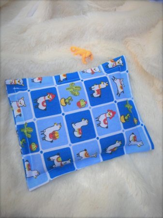 Bolsa Térmica de Sementes Bebê Alpaca Azul