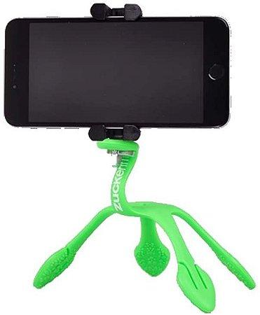 GekkoPod para Celular, GoPro e Câmera Fotográfica Verde com o controle bluetooth