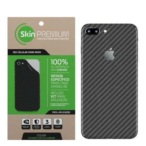 SKIN PREMIUM IPHONE 7 PLUS CINZA