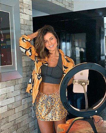 Gekko Luz Selfie Profissional 10 POLEGADAS PRETO + Controle Bluetooth Universal de Brinde