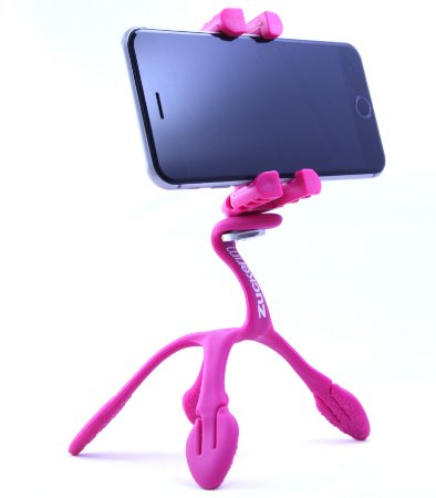 GekkoPod para Celular e Câmera Fotográfica Rosa com o controle bluetooth