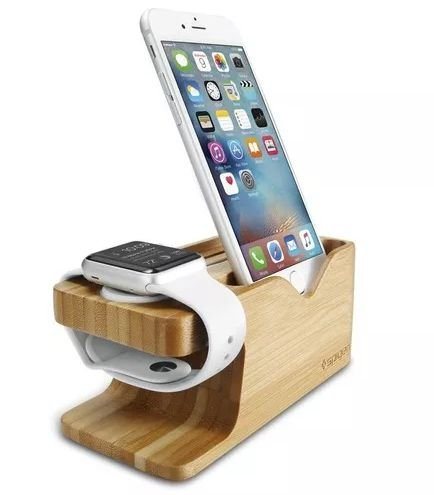 Suporte Spigen Stand S370 Bambu Apple Watch E Iphone