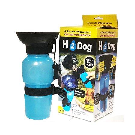 Bebedor Garrafinha Squeeze portátil para passeio Azul H2 Dog