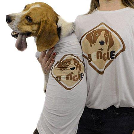 Roupinha para cachorro Estampa Beagle