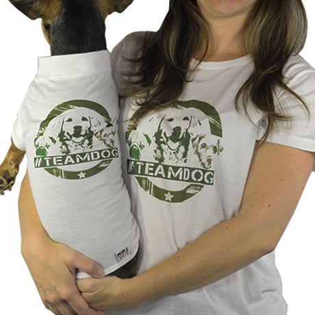Roupinha para cachorro Estampa Team Dog