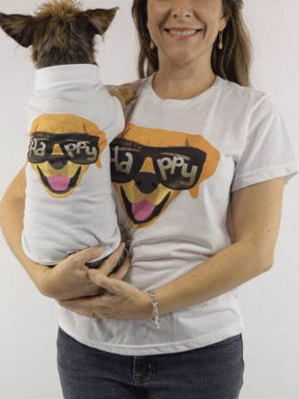 Roupinha para cachorro Estampa Happy