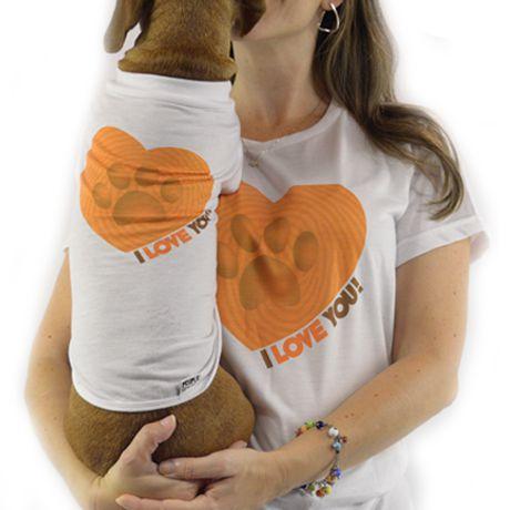 Roupinha para cachorro Estampa Coração