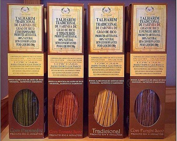 Combo 4 Sabores  Macarrão tipo Talharim de Farinha de Grão de Bico 20 un