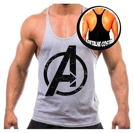 daf43ee09b Camiseta Regata Cavada Avengers Vingadores para malhar