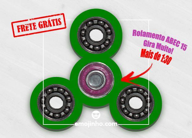 Fidget Hand Spinner - Discos Verde Claro