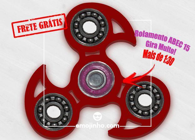 Fidget Hand Spinner - Veloster Vermelho