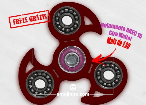Fidget Hand Spinner - Veloster Vermelho Translúcido