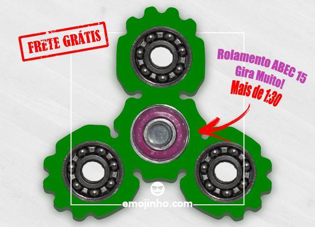 Fidget Hand Spinner - Engrenagem Verde Claro