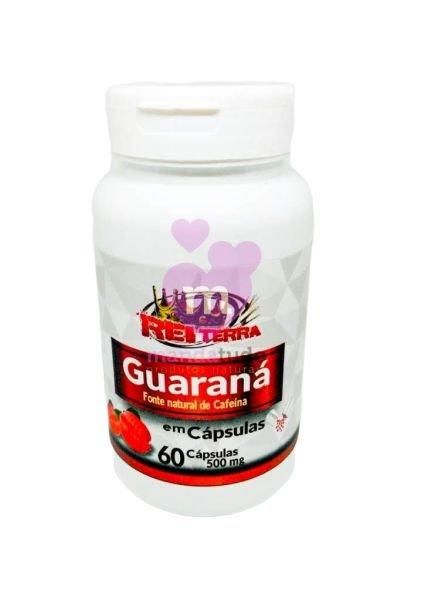 Guaraná 500mg 60 caps - Rei Terra