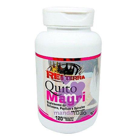 Quito Magri (Quitosana, Psyllium e Spirulina) 500mg 120 caps - Rei Terra