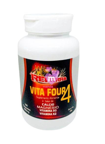 Vita Four 4 (Cálcio, Magnésio, Vitamina D3 e Vitamina K2) 480 mg 100 caps - Rei Terra