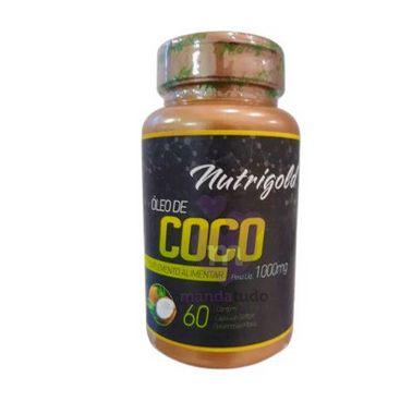 Óleo de Coco 1000mg 60 caps - Nutrigold Melhor Preço