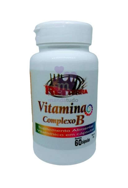Vitamina Complexo B 500 mg 60 cáps - Rei Terra