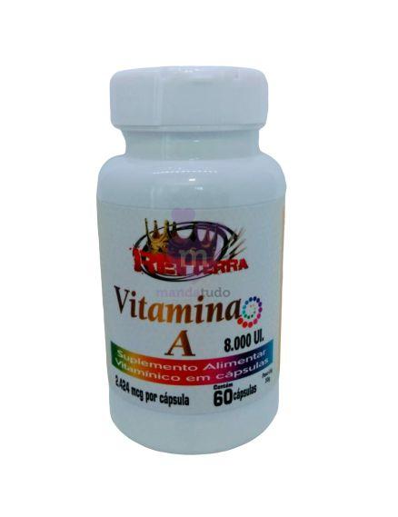Vitamina A 500 mg 60 caps - Rei Terra