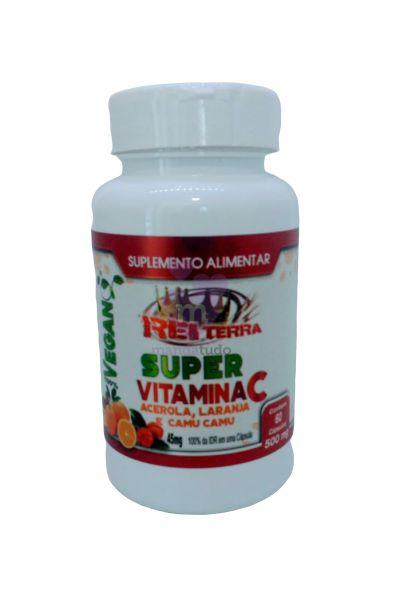 Super Vitamina C 500 mg 60 caps - Rei Terra