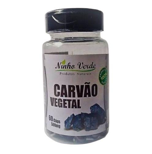 Carvão Vegetal 500 mg 60 caps - Ninho Verde