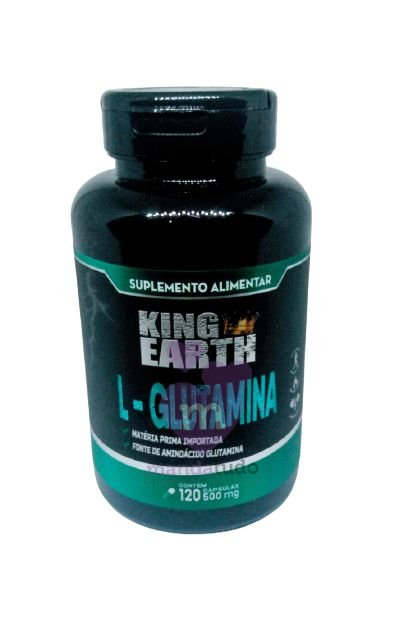 L-Glutamina King Earth 500 mg 120 caps - Rei Terra