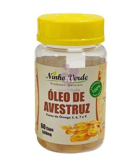Óleo de Avestruz 500 mg 60 caps - Ninho Verde