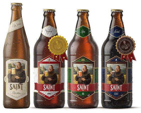 Kit Cerveja Artesanal Saint Bier 4 Cervejas