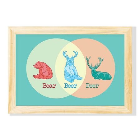 Pôster com Moldura Bear, Beer, Deer